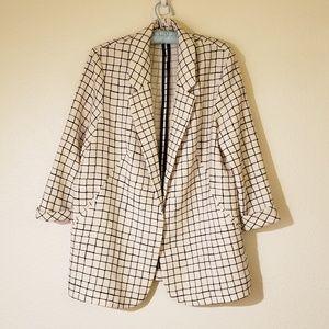 Topshop windowpane blazer